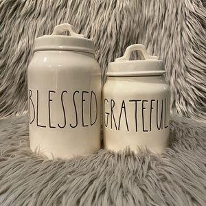 NEW‼️Rae Dunn Grateful/Blessed canister